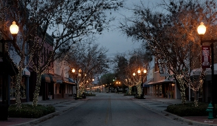 Photo of St Johns Ave early on a Sunday morning