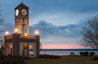 photo of Palatka Clock at Sunrise