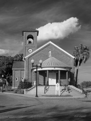 b&w photo of 1st Presbyterian Church of Palatka