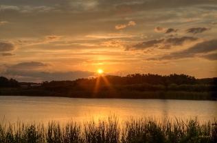 photo of sunset on Lake Stella, Crescent City FL