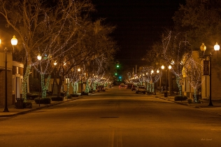 photo, St Johns Ave at Night, Palatka FL
