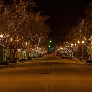 photo, St Johns Ave at Night, Palatka FL