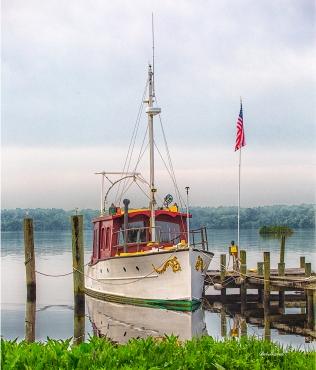 Photo of Boat tied to dock on St Johns River, Palatka, FL