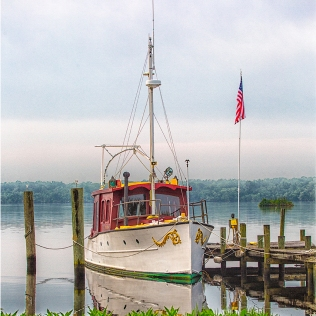 Photo of Boat tied to dock on St Johns River, Palatka, FL