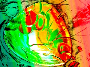 digital abstraction of a glass plate